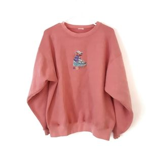 Vintage Pink Aspen Ski Sweater